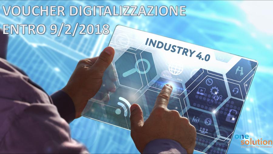 Voucher digitalizzazione per le PMI: SCADENZA 9 FEBBRARIO ORE 17